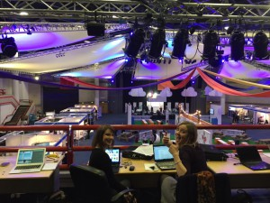 Kirsty and Vix at mission control - the best seat in the house